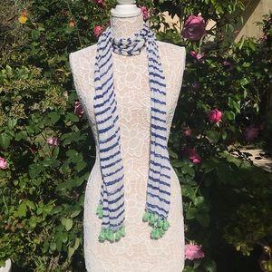 A&F spring striped scarf